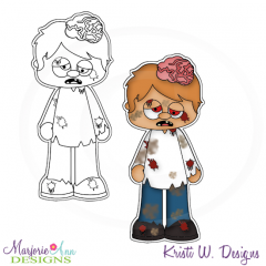 The Walking Cute-Zombie Exclusive Digital Stamps + Clipart