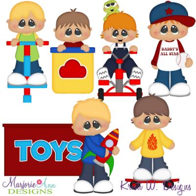 Boys & Their Toys SVG Cutting Files Includes Clipart