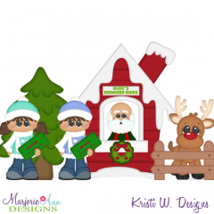 Christmas Village Reindeer Rides SVG Cutting Files + Clipart