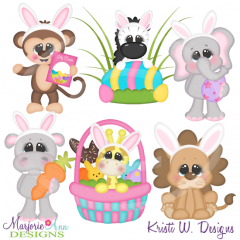 Easter In The Jungle Cutting Files-Includes Clipart
