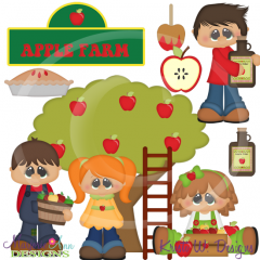 Apple Farm SVG Cutting Files Includes Clipart