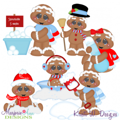 Sweet Winter Gingers Exclusive SVG Cutting Files + Clipart