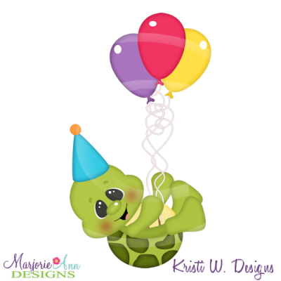 Birthday Turtle Svg Cutting Files Includes Clipart 0 60