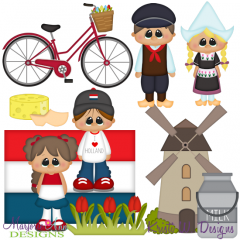 Kids Around The World-Holland SVG Cutting Files Includes Clipart