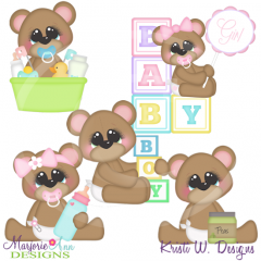 Baby Bears Exclusive SVG Cutting Files Includes Clipart