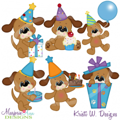 Peyton's 1st Birthday Cutting Files-Includes Clipart