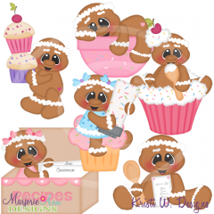 Baking Up Some Sweetness SVG Cutting Files Includes Clipart