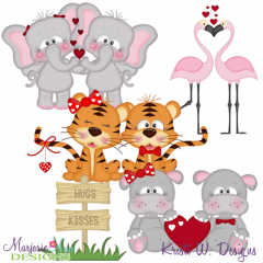 I'm Wild About You TWO SVG Cutting Files Includes Clipart