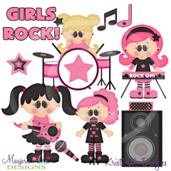 When I Grow Up~Rock Star Girls Cutting Files-Includes Clipart