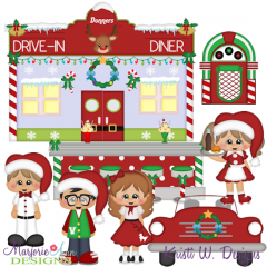 Winter Wonderland Diner SVG Cutting Files Includes Clipart