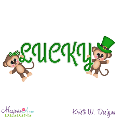 Lucky Monkey's SVG Cutting Files + Clipart