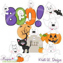 Ghoulishly Cute SVG Cutting Files Includes Clipart