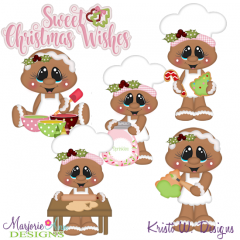 Sugary Sweet Cookies SVG Cutting Files Includes Clipart