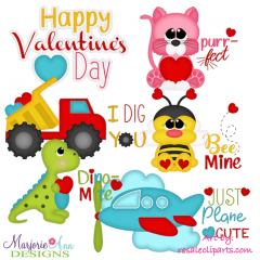 Happy Valentine's Day Exclusive SVG Cutting Files + Clipart