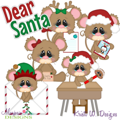 Letters To Santa SVG Cutting Files Includes Clipart