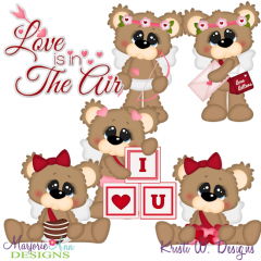 Cute Cupid Bears SVG Cutting Files Includes Clipart