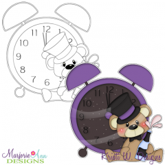 New Year Bear Digital Stamp + Clipart