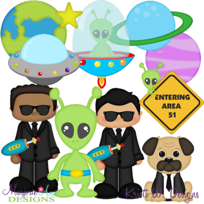 Alien Fighters SVG Cutting Files + Clipart