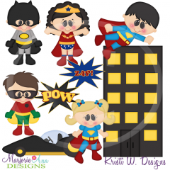 When I Grow Up~Super Hero Cutting Files-Includes Clipart