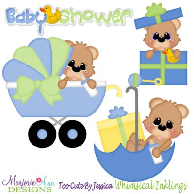Baby Shower Bears-Boy SVG Cutting Files Includes Clipart