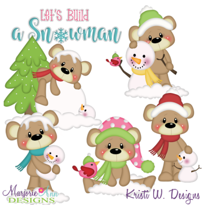 Payton's Winter Friends SVG Cutting Files Includes Clipart