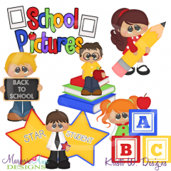 Back To School Pictures SVG Cutting Files Includes Clipart