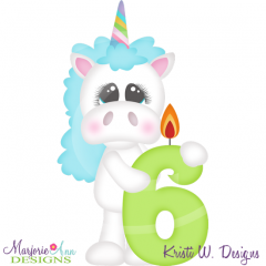 Party Animal 6th Birthday Cutting Files-Includes Clipart