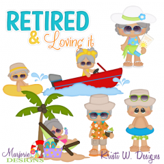 Retirement Life SVG Cutting Files Includes Clipart