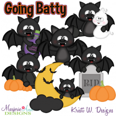 Going Batty SVG Cutting Files + Clipart