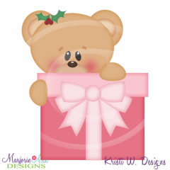 Charile Bear Gift SVG Cutting Files Includes Clipart
