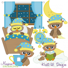 Night Owl SVG Cutting Files Includes Clipart