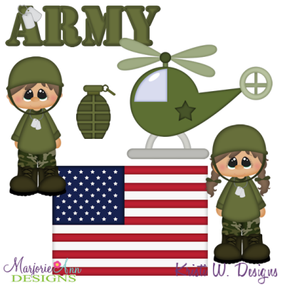 Army SVG Cutting Files + Clipart