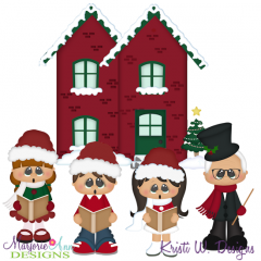 Christmas Caroling 2 SVG Cutting Files Includes Clipart