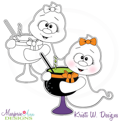 Ghouls Night Out 1 Digital Stamp + Clipart