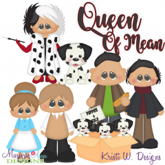 Queen Of Mean Exclusive SVG Cutting Files Includes Clipart