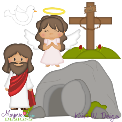 He Is Risen SVG Cutting Files + Clipart