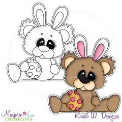Beary Happy Easter 2 Exclusive Digital Stamp + Clipart