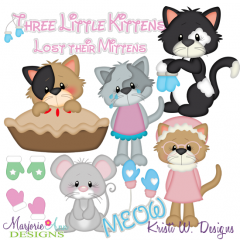 Three Little Kittens SVG Cutting Files Includes Clipart