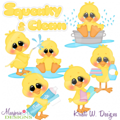 Bathtime Ducks Cutting Files-Includes Clipart