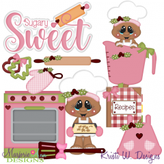 Sugary Sweet Baking Gingers SVG Cutting Files Includes Clipart