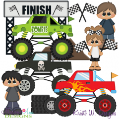 Monster Trucks SVG Cutting Files + Clipart
