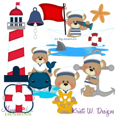 Patches The Bear- Big Sea Adventure Exclusive SVG Cut Files