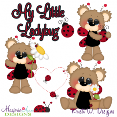 My Little Ladybug SVG Cutting Files Includes Clipart