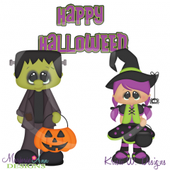 Holiday Kids~Halloween SVG Cutting Files Includes Clipart