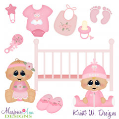 Sweet Baby Girl SVG Cutting Files + Clipart