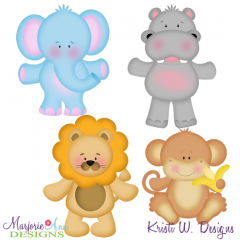 Animal Crackers SVG Cutting Files Includes Clipart