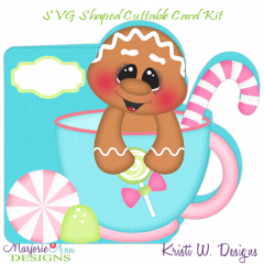 Christmas Tea Ginger 2~Shaped SVG/MTC Card Kit/Cutting File