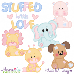 Stuffed With Love SVG Cutting Files Includes Clipart