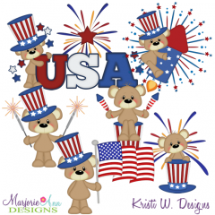 Payton The Patriot SVG Cutting Files + Clipart