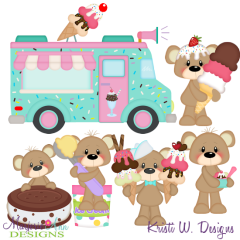 Payton Loves Ice Cream SVG Exclusive Cutting Files + Clipart